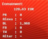Domainbewertung - Domain www.padport.de bei domainwert1.de