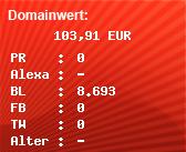 Domainbewertung - Domain www.crazy-list.de bei domainwert1.de