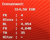 Domainbewertung - Domain www.thegreenland.de bei domainwert1.de