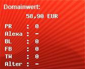 Domainbewertung - Domain www.tarif-knaller24.de bei domainwert1.de