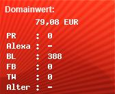 Domainbewertung - Domain www.anforderung-serverraum.de bei domainwert1.de