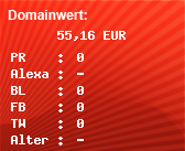 Domainbewertung - Domain www.degam.net bei domainwert1.de