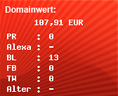 Domainbewertung - Domain www.nicepage.de bei domainwert1.de