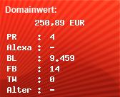 Domainbewertung - Domain gutscheindeal.info bei domainwert1.de