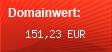 Domainbewertung - Domain www.reisegepaeck.de bei domainwert1.de