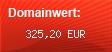 Domainbewertung - Domain www.verkaufspferde.eu bei domainwert1.de
