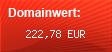 Domainbewertung - Domain florahost.de bei domainwert1.de