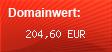 Domainbewertung - Domain www.elektroroller.de bei domainwert1.de