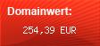 Domainbewertung - Domain www.kostenloseschufaauskunft.info bei domainwert1.de